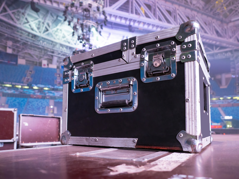 Box,Rack,For,Transportation,Of,Concert,Equipment.,Wardrobe,Trunk,On